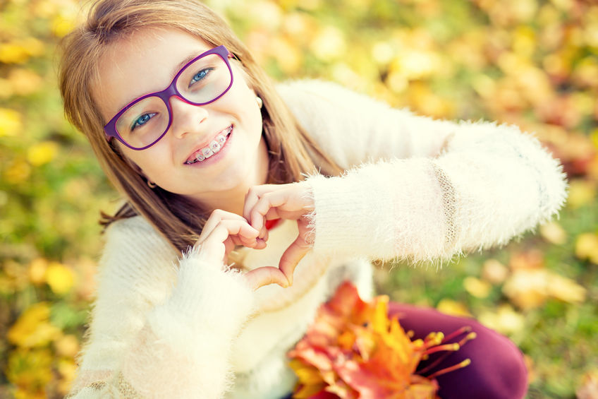 Braces supporting oral health in children
