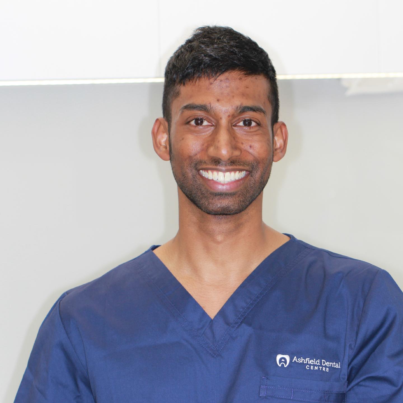 Dr Trishin Seetharam, BDSc (UWA), MClin Implants (LLU-Los Angeles)